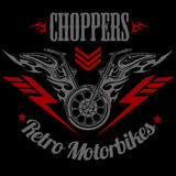 Retro motorcycle label, badge and design elements Stock Photography