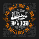 Retro motorcycle label, badge and design elements Royalty Free Stock Photo
