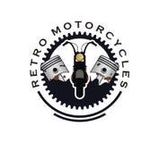Retro motorcycle logo design vector stock illustration