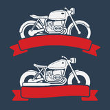 Retro motorcycle logo set Royalty Free Stock Photo