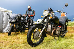 Retro motorcycle Royalty Free Stock Images