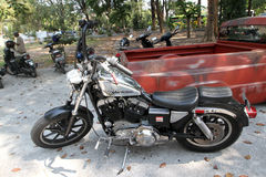Retro motorcycle Stock Photography