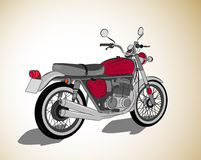 Retro motorcycle vector Stock Photos