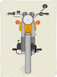 Retro motorcycle vector Royalty Free Stock Photo