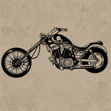 Retro motorcycle, vintage motorcycle. Retro motorcycle vector for your ideas Stock Image