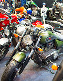 Retro motorcycles at motor show Stock Image