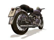 retro motorcykel stock illustrationer