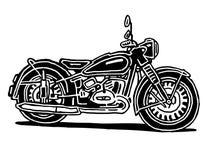Retro motorcykelillustration vektor illustrationer