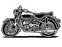 Retro motorcykelillustration stock illustrationer