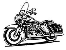 Retro motorcykelvektorteckning vektor illustrationer