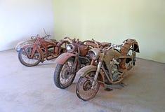 Retro motorcyklar Royaltyfria Bilder