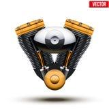 Retro motore del motociclo Illustrazione di vettore Immagine Stock