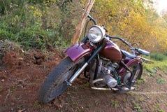 Retro motorfiets Stock Foto