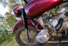 Retro motorfiets Stock Afbeelding
