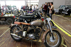 Retro motorfiets Royalty-vrije Stock Afbeelding