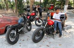 Retro motorfiets Royalty-vrije Stock Fotografie