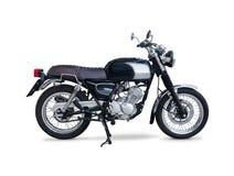 Retro motorfiets op wit wordt geïsoleerd dat Royalty-vrije Stock Fotografie