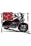 Retro motorfiets in schets Stock Fotografie