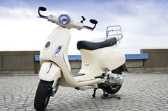 Retro Motorfiets van de Stijl Stock Afbeeldingen