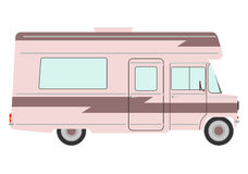 Retro motorhome. Stock Photos