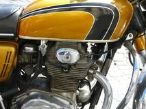 Retro- Motorrad Lizenzfreie Stockfotografie