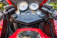 Retro- Motorrad Kawasakis GPZ draußen fotografiert Legendäres Fahrrad vom Film Top Gun Lizenzfreies Stockbild