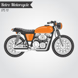 Retro Motorycle Stock Afbeeldingen