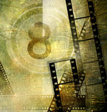 Retro movie. Vintage movie background with film strips Royalty Free Stock Photo