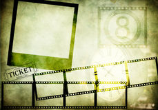 Retro movie based background Stock Photos