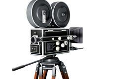 Retro movie camera Stock Image