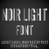 Retro Movie Font. Stripped Nervous Light Retro Noir Movie Font. Vector letters set Stock Image