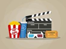 Retro movie set. cinema items Royalty Free Stock Photo