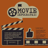 Retro movie template, media player, flat design, illustration, modern style, , concept, icons,digital, online, advertising Royalty Free Stock Images