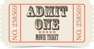 Retro movie vector ticket Royalty Free Stock Photo
