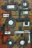 Retro mozaïek met het beeld van een oud mechanisme. Royalty-vrije Stock Foto