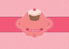 retro muffin royaltyfri illustrationer