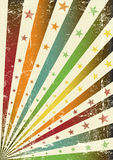 Retro multicolor grunge flag Royalty Free Stock Image