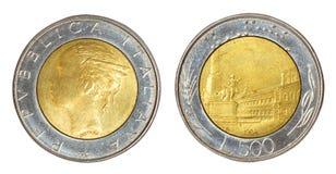 Retro muntstuk van Italië Stock Afbeelding