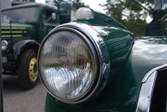 Retro Muntvoorwaarde Antiek Chevy Chevrolet neemt vrachtwagen vanaf 1946 op Stock Foto's