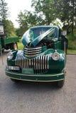 Retro Muntvoorwaarde Antiek Chevy Chevrolet neemt vrachtwagen vanaf 1946 op Stock Fotografie