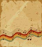 Retro music. Musical background in style retro Royalty Free Stock Photos