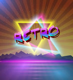 Retro Music Abstract Poster Cover 1980s Background. Illustration of Retro Music Abstract Poster Cover 1980s Style Background. Neon Disco Poster Template 80s Royalty Free Stock Photo
