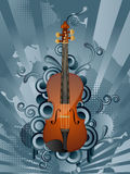 Retro music background. Abstract vector retro background with the violin Stock Photography