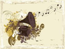 Retro music background Royalty Free Stock Photos