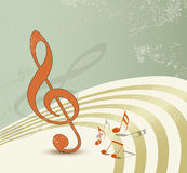 Retro music background Royalty Free Stock Photo