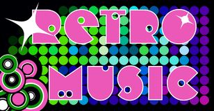 Retro music banner Royalty Free Stock Images