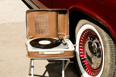 Retro music and cars Royalty Free Stock Photos