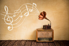 Retro music concept Royalty Free Stock Image