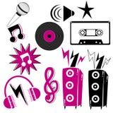 Retro music elements Royalty Free Stock Image