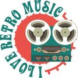 Retro Music Emblem Stock Image